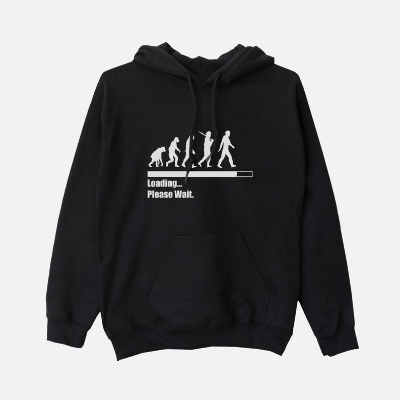 Loading Please Wait  Unisex Hooded Sweatshirt Evolution image 0
