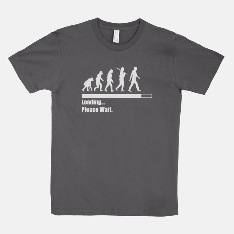 Loading Please Wait  Unisex T-Shirt Tee Evolution Chart Asphalt