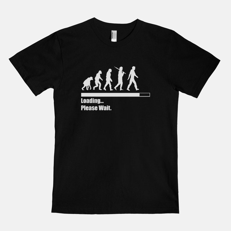Loading Please Wait  Unisex T-Shirt Tee Evolution Chart Black