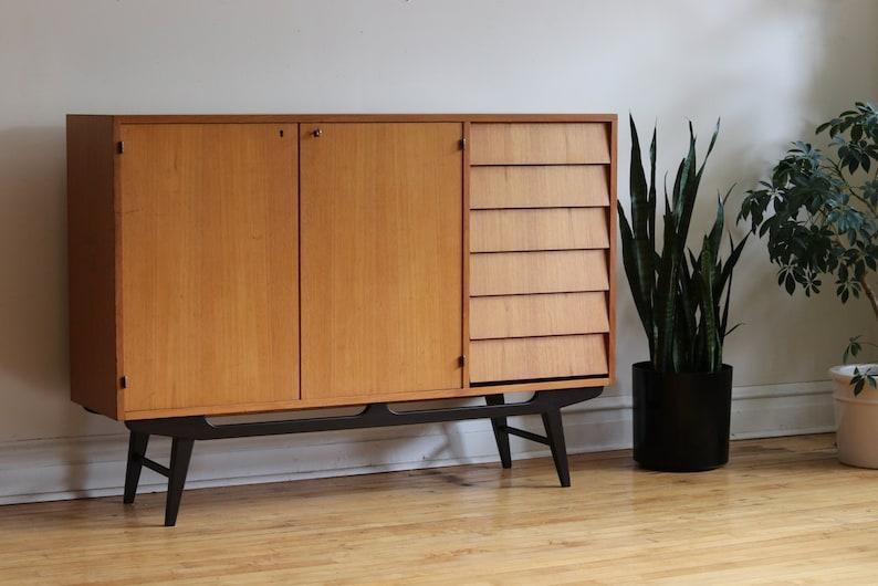 Credenza Dark Wood : Dafnedesign sideboard removable dark wood color h x