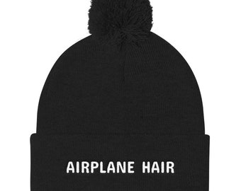 d08fd0b6020 Pom Pom Knit Pilot or Flight Attendant Hat