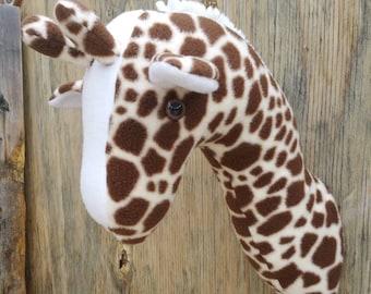 Faux Taxidermy Giraffe/Stuffed Wall Mount/Room Decor/Kids Wall Hanging/Plush Taxidermy/Fake Taxidermy/Faux Taxidermy