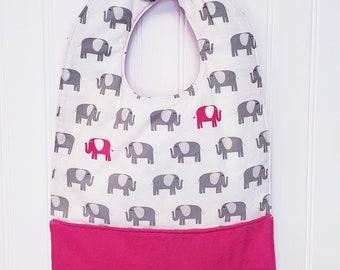 Baby Girl Gift Set Babyshower Gift Gown Burper Bib Ruffle Elephant Baby Girl Set