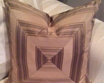 "SALE-Stripe 20"" polyester designer pillow cover"