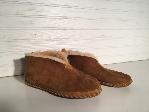 Eddie Bauer brown vintage Slippers size 8 mens