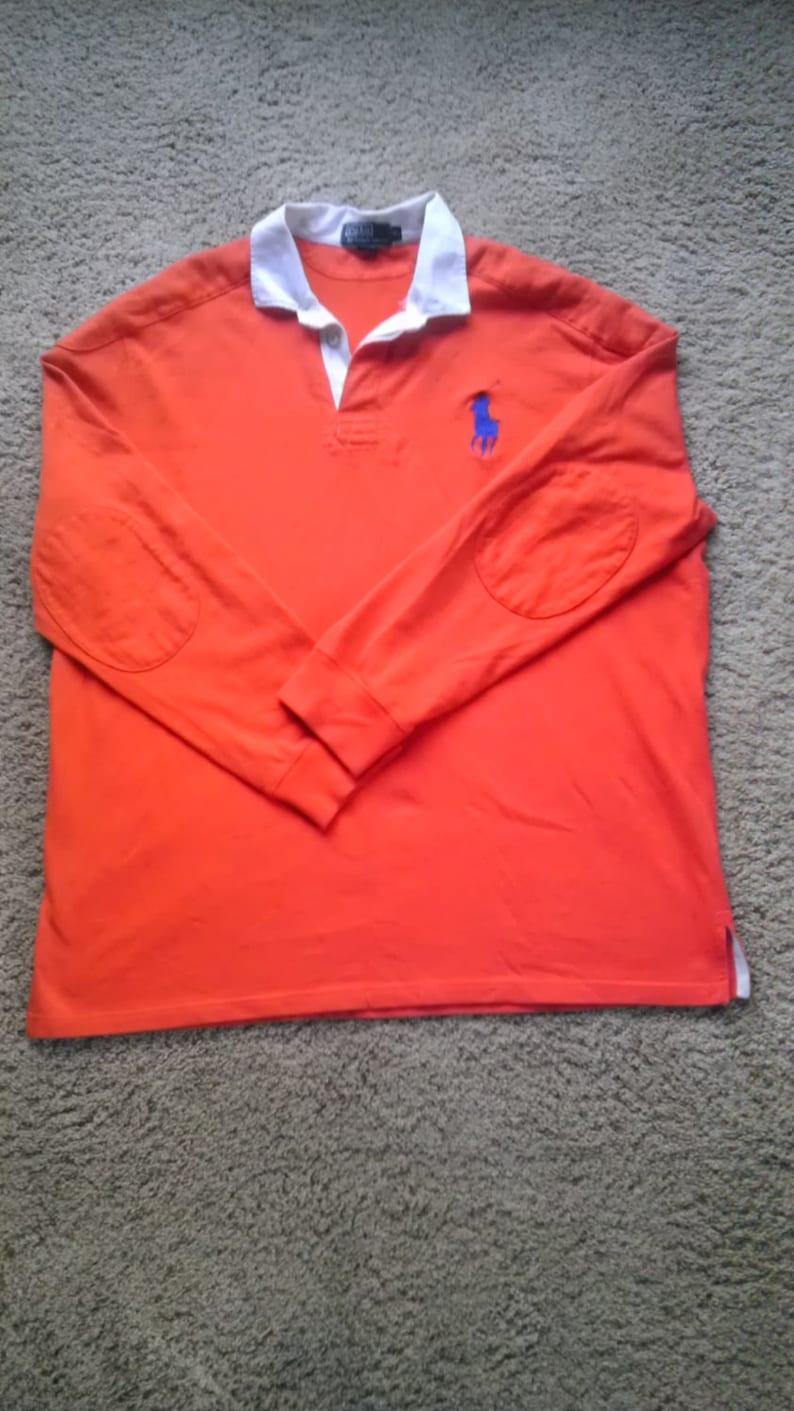 3e2c3cca Vintage Rare Polo Ralph Lauren Shirt BIG PONY Classic Orange | Etsy