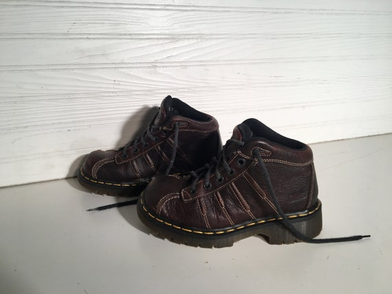 Dr Martens Brown Industrial Vintage 5 Lace Up Shoes Air Cushion Sole Size 4 Us Doctor Doc Platform Laces Grunge Preppy Worker Sturdy