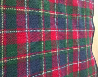 Vintage Ralph Lauren Polo Blanket Plaid 100% Wool Bed Queen Full Throw Sports Stadium Poncho cabin red blue black green white Wedding gift