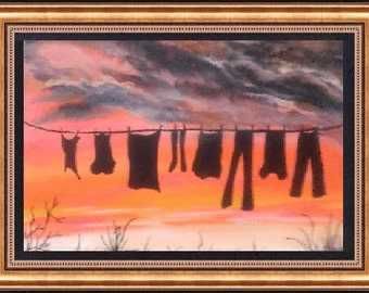 "Giclee Fine Art Print    ""Evening Sunset"" original painted by Douglas, Wyoming Artist joyce Lee"