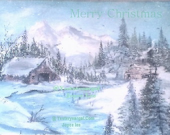 Christmas Cards From My Painting Wyoming Winter