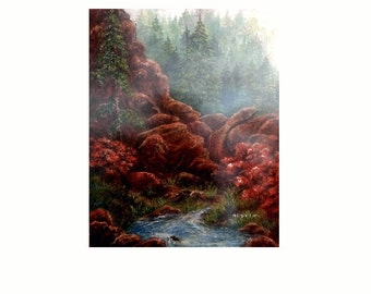 Serendipity  16  x 30 Giclee Fine Art Print By Douglas, Wyoming Artist Joyce Lee