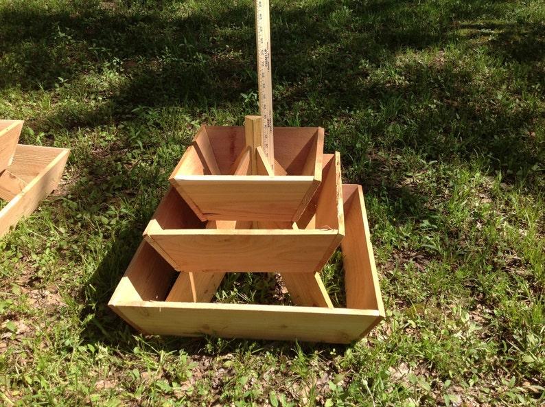 Beau Pyramid Planter 3 Tier. Herb Garden, Strawberry Planter , Vertical Planter,  Urban Gardening, Vertical Garden, Space Saving
