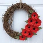 Poppy Wreath, Memorial Day Wreath