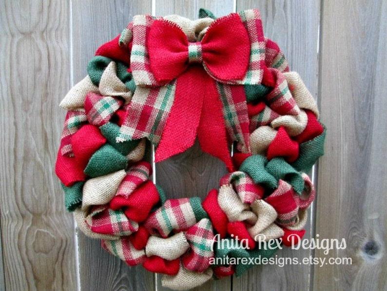 Christmas Wreath Christmas Burlap Wreath