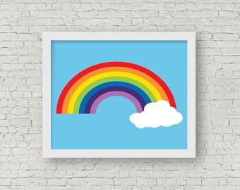Rainbow Print, Modern Home Decor, Rainbow Wall Art, Colourful, Children's Room Decor, Nursery Decor, 8 x 10 Art Print, Gift For Child