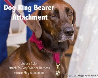 Original Dog Ring Bearer Ring Holder ATTACHMENT ONLY - Choose Color - Secure Removable - Wedding Dog