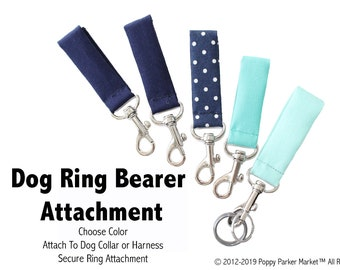 Original Dog Ring Bearer Ring Holder ATTACHMENT ONLY - Secure Removable Attachment - Wedding Dog