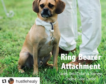 Dog Ring Bearer Ring Holder Attachment Only - Removable Choose Color - Secure Removable Attachment - Wedding Dog