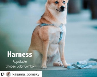 Step-In Dog Harness - Design Your Own Wedding Dog Harness - Choose Your Colors