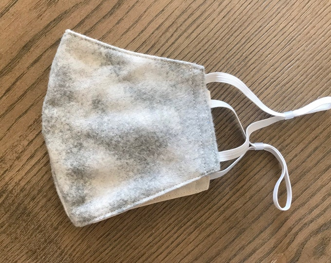 Soft Pale Gray Face mask, cotton face mask, fabric mask, adjustable straps