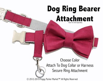 Original Wedding Dog Ring Bearer Ring Holder Attachment Only - Choose Your Color