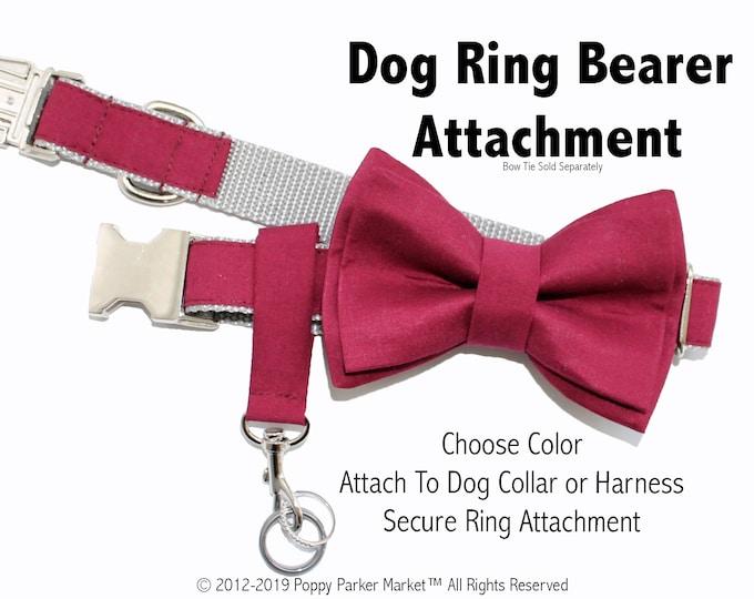 Original Wedding Dog Ring Bearer Ring Holder Attachment Only - Choose Your Color