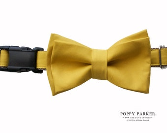 Layered Dog Bow Tie - Mustard Yellow