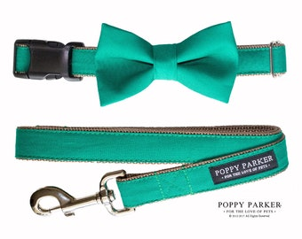 Dog Bow Tie - Emerald Green - Dog In Wedding