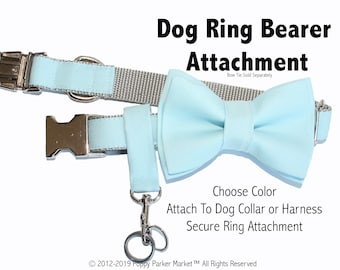 Dog Ring Bearer Ring Holder Attachment Only - Secure Removable Attachment - Wedding Dog