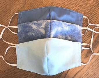 Blue Marble 3 Pack, fabric mask, adjustable straps