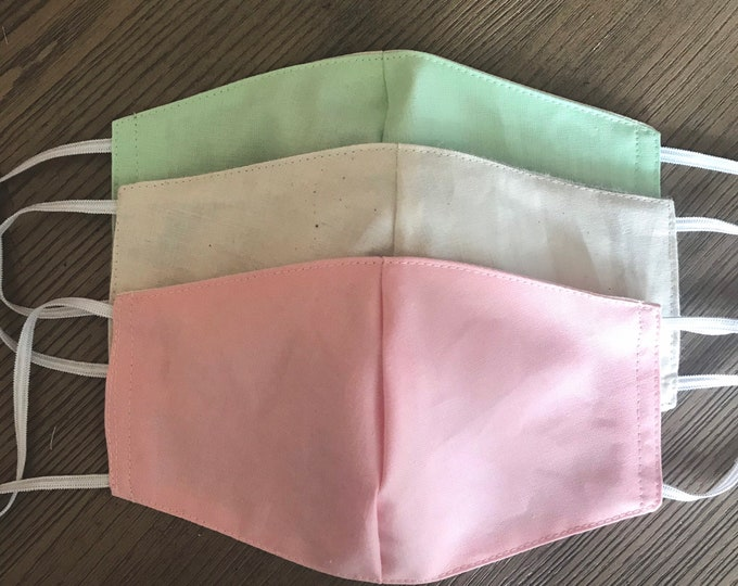 Pink Mint Pastel Variety Set of 3 Face masks
