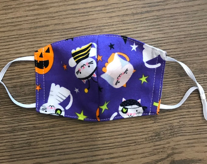 Fun Silly Halloween Face mask, cotton face mask, Holiday mask, ghost mask