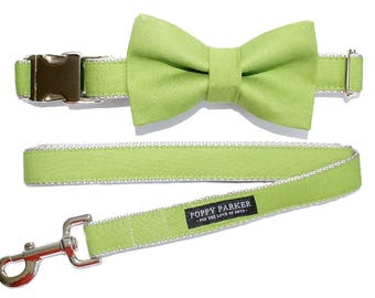 Dog Bow Tie - Bright Grass Green - Dog In Wedding