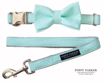 Mint Layered Dog Bow Tie by Poppy Parker Wedding - Dog Ring Bearer