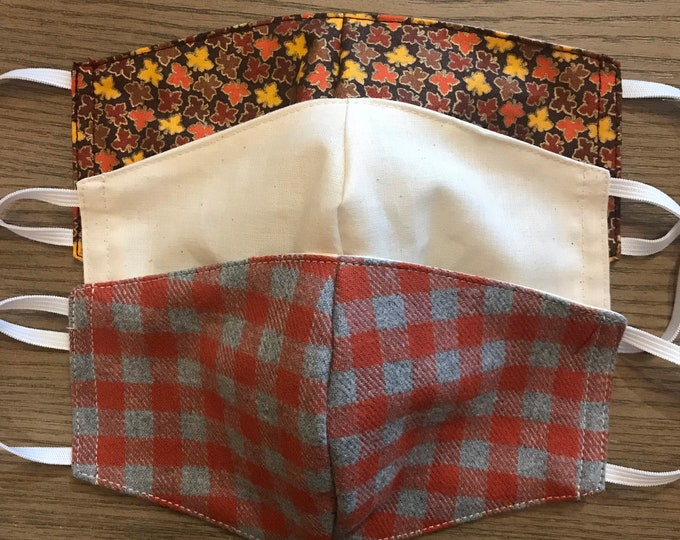 Thanksgiving Fall Plaid Gingham 3 Pack