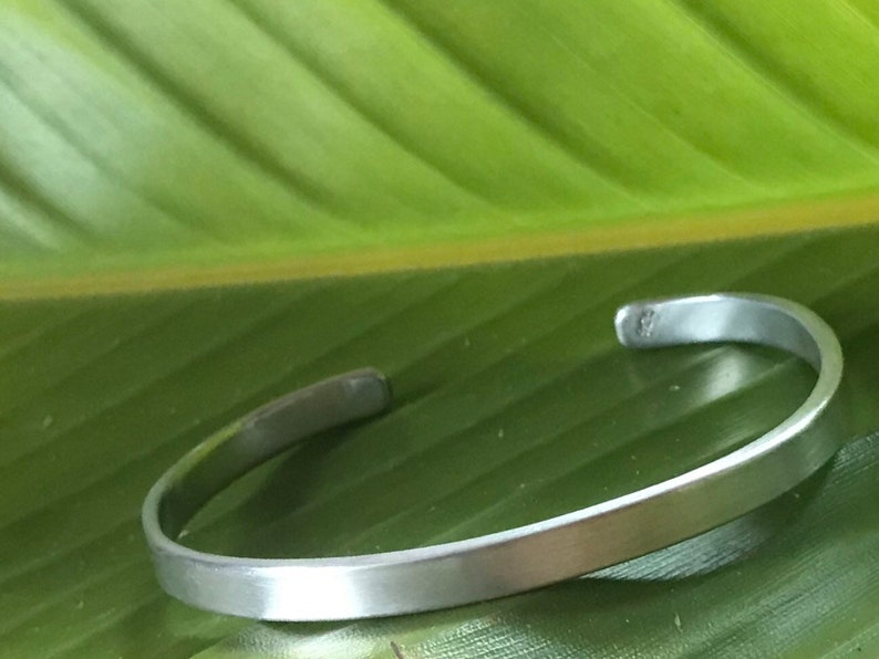Brushed sterling silver cuff bracelet with curved ends 1/4 image 0