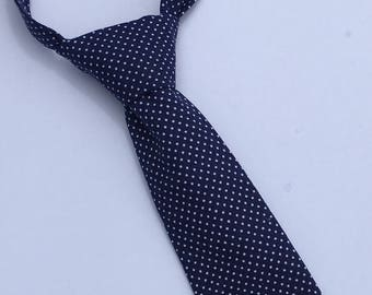 19aba693ba65 Boys Neck Tie, Navy Blue and White Polka Dot Necktie, Infant Tie, Toddler  Neck Tie, Baby Neck Tie, Pin Dot Tie