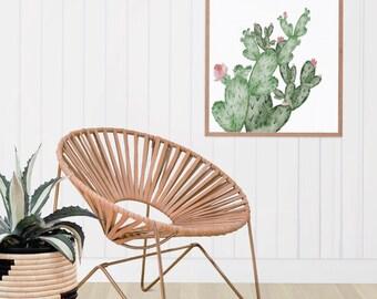 Cactus Art, Arizona Art, Watercolor Print, Fine Art Watercolor Prints, Wall Art, Home Decor, Watercolor Art, Bedroom Decor