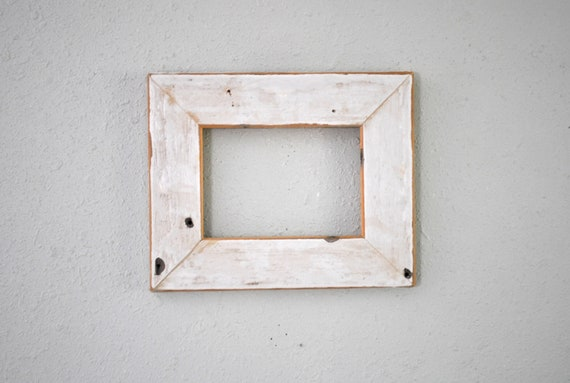 12 x 16 Weathered Chippy White Waterfall Siding Frame One-of-a-Kind Weathered Rustic Old Reclaimed Homestead Re-purposed