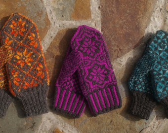Nordic Style Mitten pattern for the Hand Knitter
