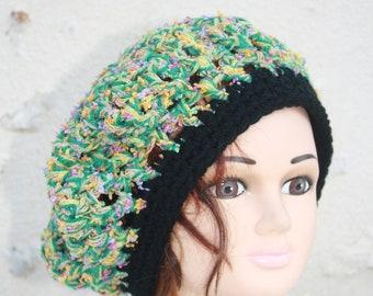 b beret crochet mesh 07fb96243040