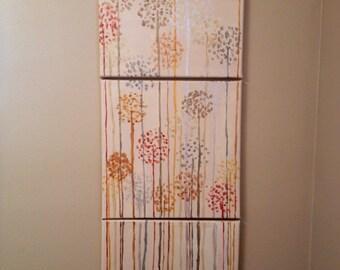 3 Canvas Dandelions