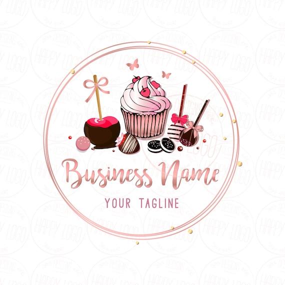 digital custom logo design cake bakery logo pink gold cake etsy digital custom logo design cake bakery logo pink gold cake logo cake logo design oreos apple candy cake pops logo logo bakery gold