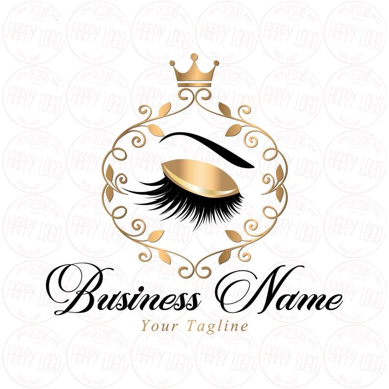 DIGITAL Custom logo design , lashes logo, crown lash beauty logo, makeup  logo, gold lash logo design, gold elegant beauty logo, lashes gold