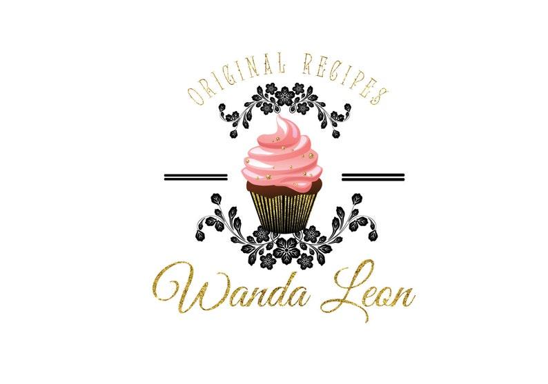 Digital Custom Logo Design Cake Bakery Logo Sweets Cupcake Etsy