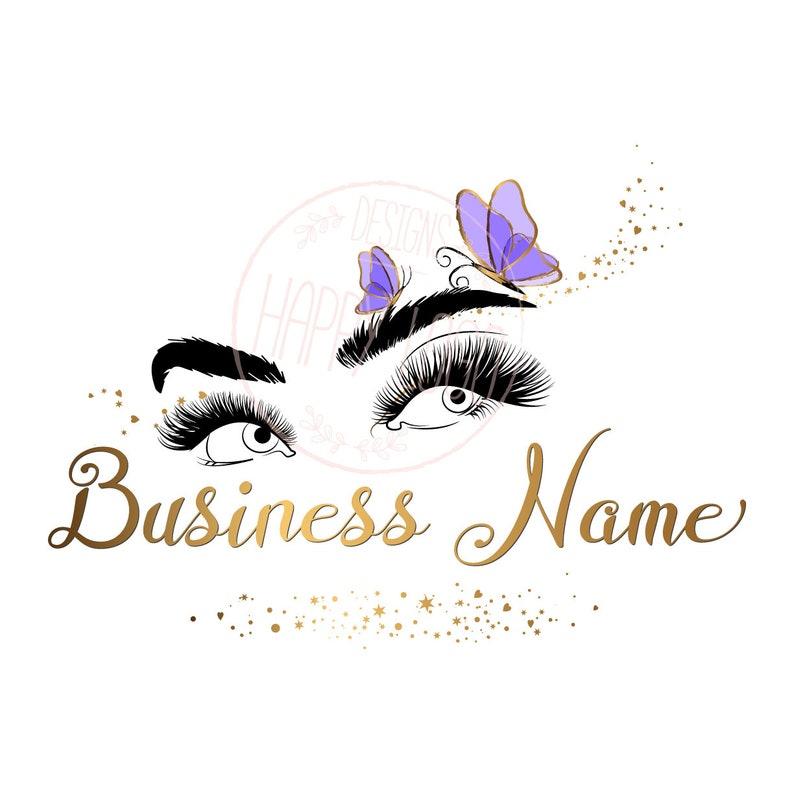 eyelash logo ,Custom logo design , lash butterfly logo, eyes purple gold  lashes beauty logo, brows eyelashes logo, gold lashes logo design