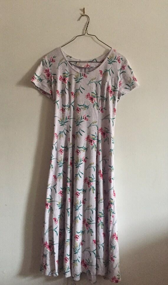 90's Floral Dress