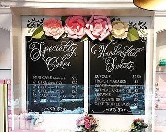 Bakery Menu Sign • Food Truck Sign • Business Chalkboard Sign • Social Media Sign Custom Chalkboard Menu • Coffee Shop Sign