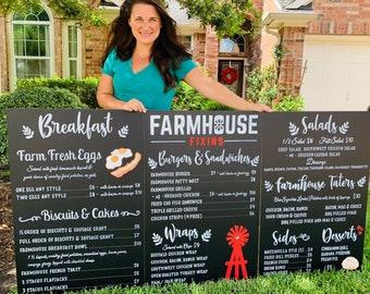 Custom Menu Sign • Food Truck Sign • Business Chalkboard Sign • Social Media Sign Custom Chalkboard Menu • Logo Sign • Coffee Shop Sign