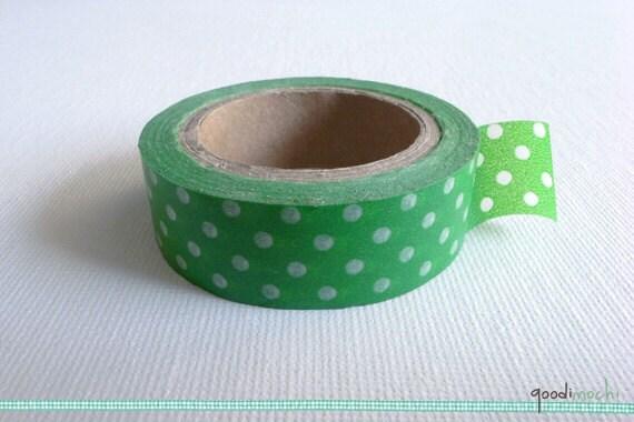 Japanese Washi Tape 15mm x 10 Metres Polka Dot Designs